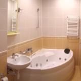 Renovated Bathroom with Jacuzzi Washing-machine, Iron. Hair dryer