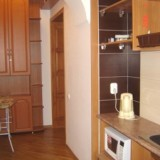 Kitchenette with Microwave, electric kettle, and mini bar
